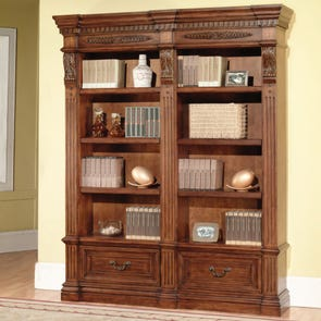 Parker House Grand Manor Granada 2 Piece Museum Bookcase