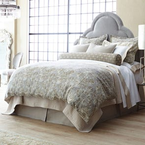 Peacock Alley Baroque Duvet Cover in Linen