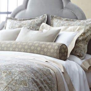 Peacock Alley Baroque Grand Euro Pillow in Linen