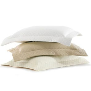 Peacock Alley Oxford Boudoir Pillow in White