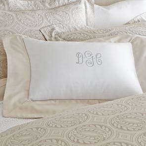 Clearance Peacock Alley Soprano Cuff Boudoir Pillow in Platinum OVLB0818023