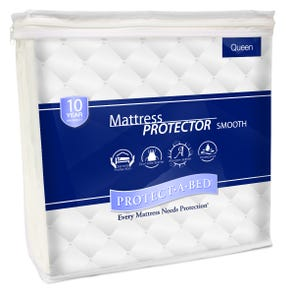 Protect-A-Bed Smooth Queen Waterproof Mattress Protector
