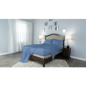 Protect-A-Bed Therm-A-Sleep Crisp Hypoallergenic Split California King Sheet Set in Blue