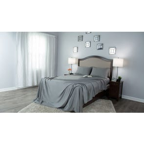 Protect-A-Bed Therm-A-Sleep Crisp Hypoallergenic Split California King Sheet Set in Gray