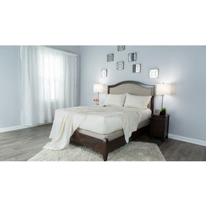 Protect-A-Bed Therm-A-Sleep Crisp Hypoallergenic Split King Sheet Set in Cream