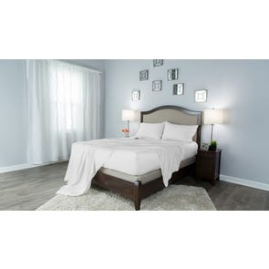 Protect-A-Bed Therm-A-Sleep Crisp Hypoallergenic Split King Sheet Set in White
