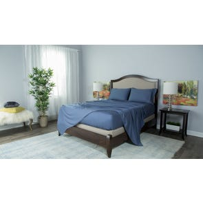 Protect-A-Bed Therm-A-Sleep Essentials Deep Pocket Queen Sheet Set in Blue