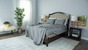 Protect-A-Bed Therm-A-Sleep Essentials Deep Pocket Queen Sheet Set in Gray