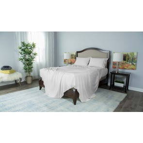 Protect-A-Bed Therm-A-Sleep Essentials Deep Pocket Split California King Sheet Set in White