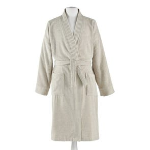 Peacock Alley Bamboo Small/Medium Bath Robe in Linen