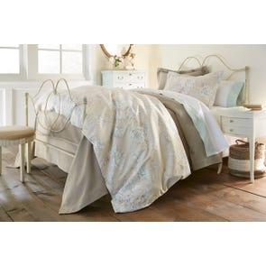 Peacock Alley Flora Printed King Duvet Cover
