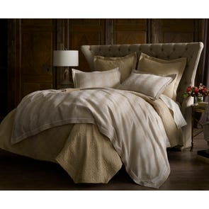 Peacock Alley Leopold Jacquard Queen Duvet Cover