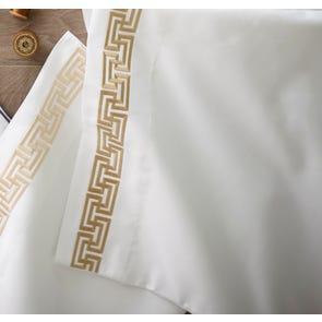 Peacock Alley Mandalay Linen Cuff Percale Twin Flat Sheet
