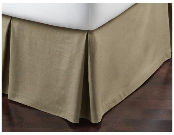 California King Bed Skirt.Peacock Alley Mandalay Linen Tailored California King Bed Skirt