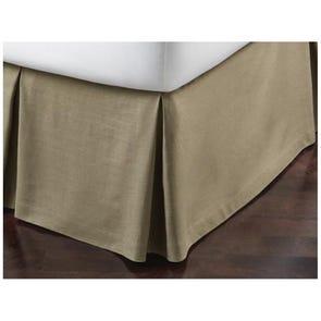 Peacock Alley Mandalay Linen Bed Skirt ruffled