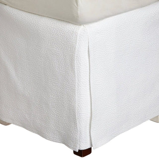 California King Bed Skirt.Peacock Alley Montauk Matelasse California King Bed Skirt