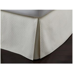Peacock Alley Oxford Tailored Matelasse Queen Bed Skirt