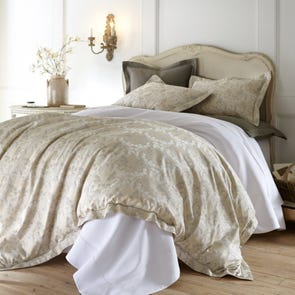 Peacock Alley Raffaella Jacquard Queen Duvet Cover