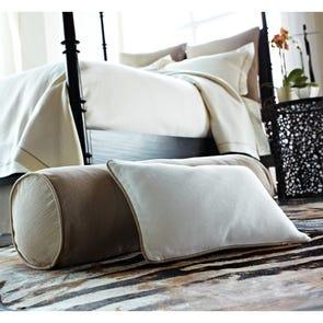 Peacock Alley Rio Linen Decorative Corded Boulster Pillow