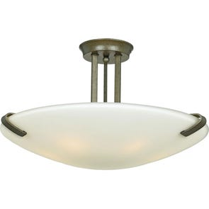 Clearance Quoizel Lakewood 3 Light Semi Flush OVFCR121798