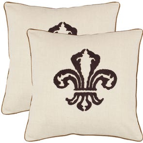 Safavieh Allie 18 Inch Chocolate Brown Decorative Pillows Set of 2