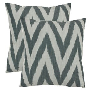 Safavieh Celeste 18 Inch Silver Decorative Pillows Set of 2