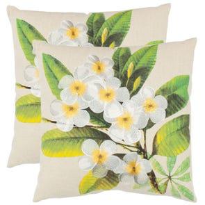 Safavieh Colt 18 Inch Eggshell Decorative Pillows Set of 2