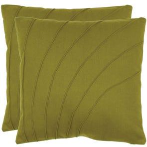 Safavieh Cruz 18 Inch Green Decorative Pillows Set of 2