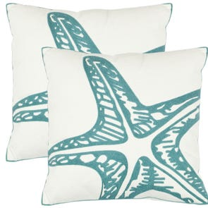 Safavieh Edwin 18 Inch Blue Decorative Pillows Set of 2