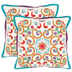 Safavieh Finn 18 Inch Gold Decorative Pillows Set of 2