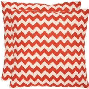 Safavieh Jace 22 Inch Orange Sunburst Decorative Pillows Set of 2