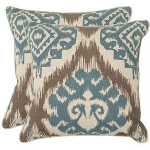 Safavieh Josh 18 Inch Powder Blue Decorative Pillows Set of 2