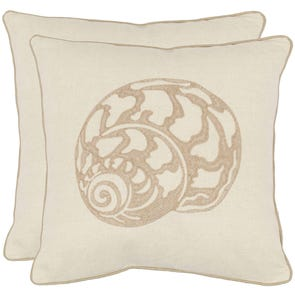 Safavieh Kyler 18 Inch Creme Decorative Pillows Set of 2