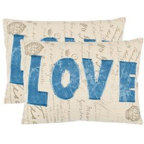 Safavieh Mallory Blue Decorative Pillows Set of 2