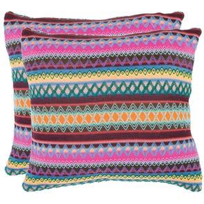 Safavieh Mckenzie 22 Inch Chocolate Burst Decorative Pillows Set of 2