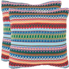 Safavieh Mckenzie 22 Inch Sky Blue Burst Decorative Pillows Set of 2