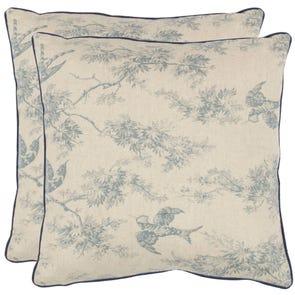 Safavieh Norah 18 Inch Blue Decorative Pillows Set of 2