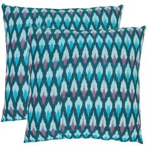 Safavieh Taylor 18 Inch Blue Decorative Pillows Set of 2