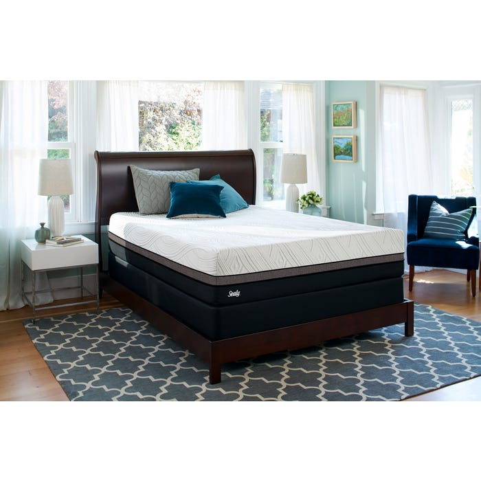 King Sealy Posturepedic Conform Premium Gratifying Firm Mattress Free 200 Gift Card