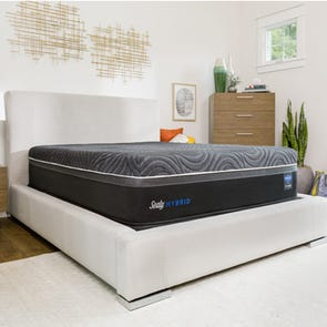 King Sealy Posturepedic Hybrid Premium Silver Chill Plush 14 Inch Mattress + FREE $200 Visa Gift Card