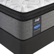 Queen Sealy Posturepedic Response Performance Cooper Mountain IV Cushion Firm Pillow Top Mattress with Ease 2.0 Adjustable Base