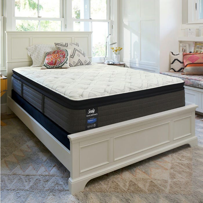 Queen Sealy Posturepedic Response Performance Cooper Mountain Iv Plush Pillow Top Mattress