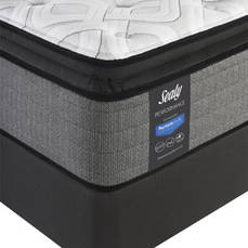 Queen Sealy Posturepedic Response Performance Cooper Mountain IV Plush Pillow Top 14 Inch Mattress with Ease 3.0 Adjustable Base