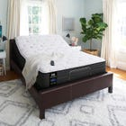 King Sealy Posturepedic Response Performance Mountain Ridge IV Plush Euro Top 12 Inch Mattress with Ergo Adjustable Base