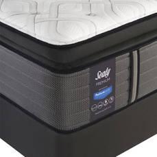 King Sealy Posturepedic Response Premium Barrett Court IV Plush Pillow Top 16 Inch Mattress with Ergo Extend Adjustable Base