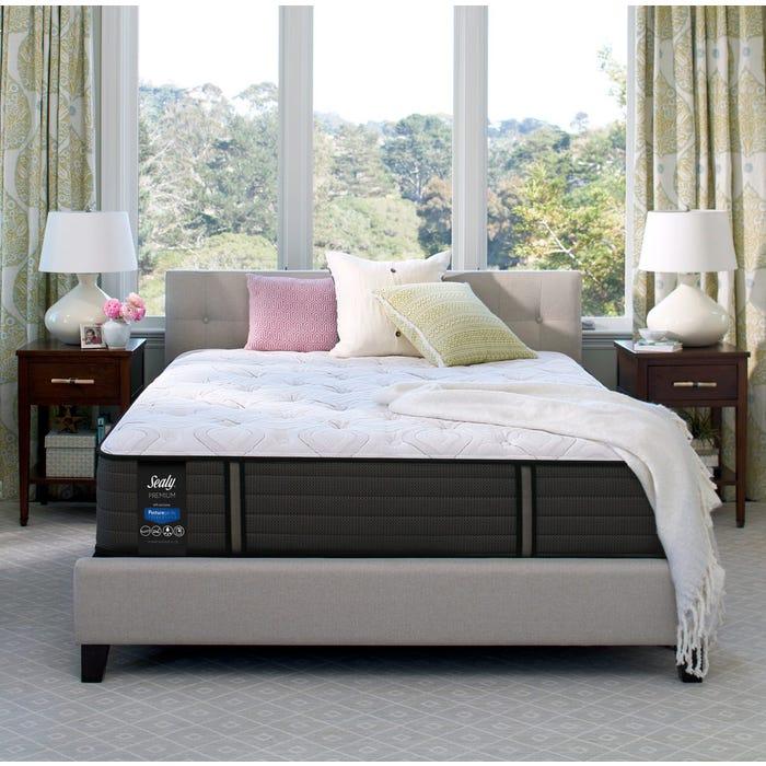 Queen Sealy Posturepedic Response Premium Warrenville Iv Cushion Firm Mattress