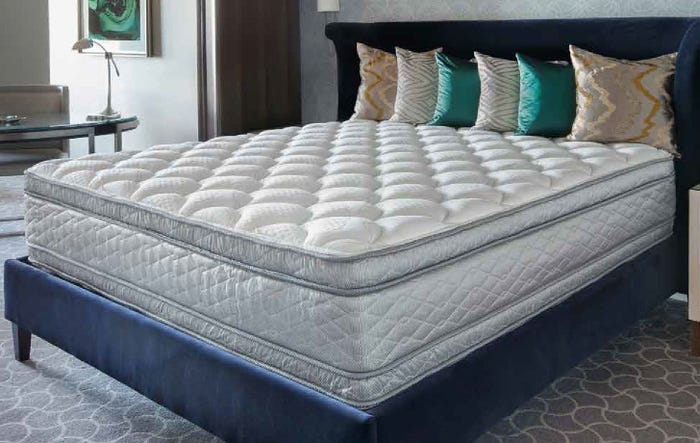 Serta Perfect Sleeper Hotel Sapphire Suite II Plush Pillow Top Double Sided Mattress