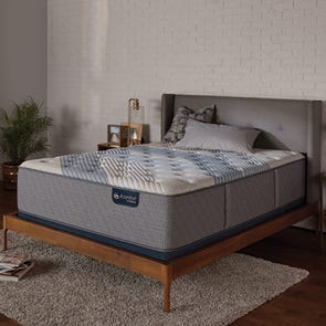 King Serta iComfort Hybrid Blue Fusion 1000 Luxury Firm 14.5 Inch Mattress