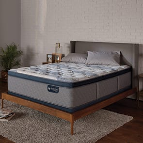 King Serta iComfort Hybrid Blue Fusion 300 Plush Pillow Top Mattress + FREE $100 Gift Card