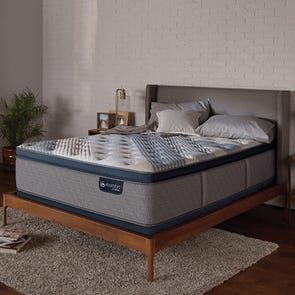 Queen Serta iComfort Hybrid Blue Fusion 5000 Cushion Firm Pillow Top Mattress + FREE $100 Gift Card